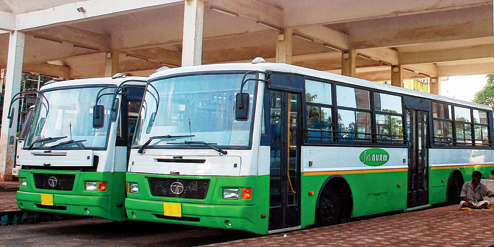 buses in Bhubaneswar and to Puri and Cuttack